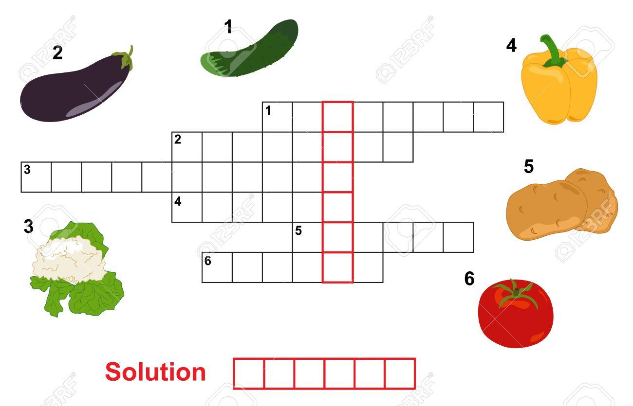 Jeu De Mots Croisés De Légumes, Les Mots De Jeux Pour Enfants destiné Jeux De Mots Pour Enfants