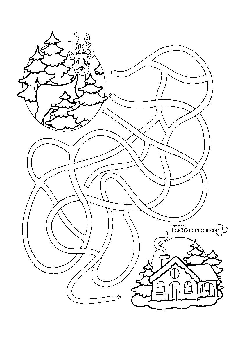 Jeu De Noel A Imprimer 109 - Coloriage En Ligne Gratuit Pour tout Jeux Maternelle Gratuit