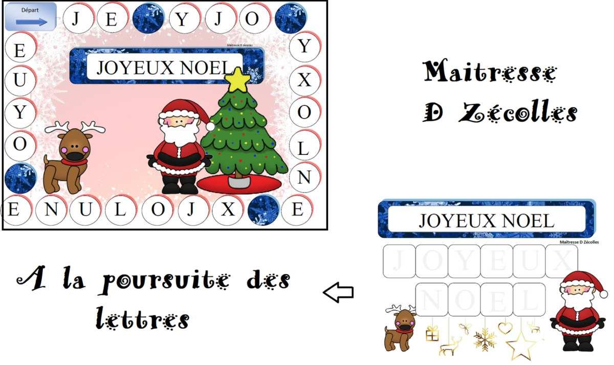 Jeu De Noël : A La Poursuite Des Lettres - Mes Tresses intérieur Jeux De Maitresse A Imprimer