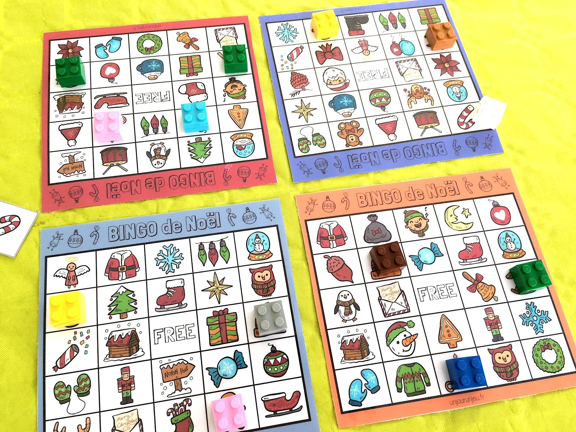 Jeu De Noël : Bingo À Télécharger Gratuitement Pour Vos destiné Jeux Societe Gratuit