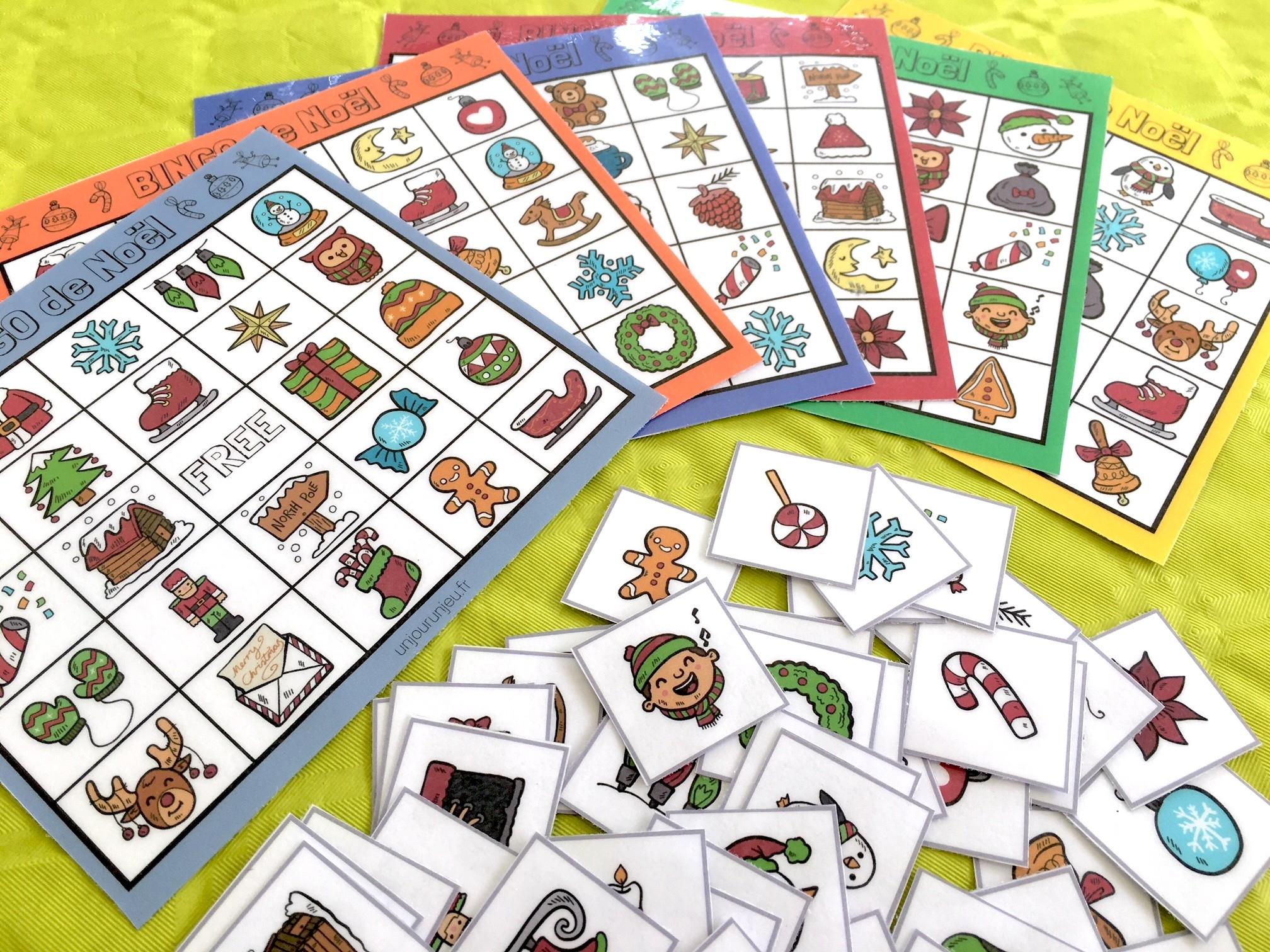 Jeu De Noël : Bingo À Télécharger Gratuitement Pour Vos Enfants concernant Jeux Enfant 4 Ans Gratuit