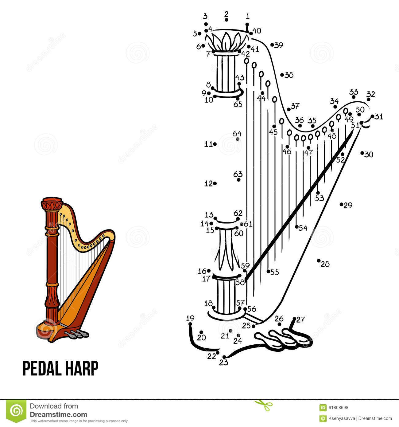 Jeu De Nombres : Instruments De Musique (Harpe De Pédale destiné Jeu Des Instruments De Musique