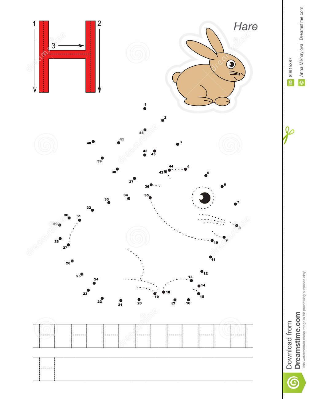 Jeu De Nombres Pour La Lettre Illustration De Vecteur tout Point À Relier Alphabet