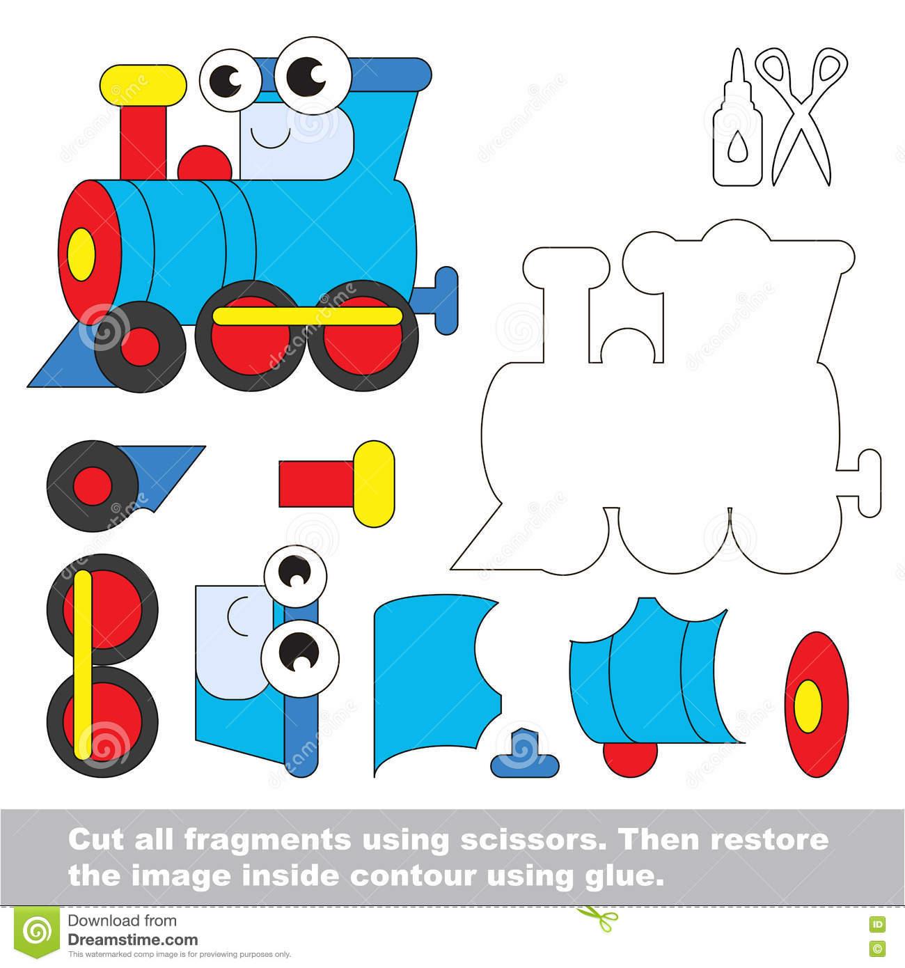 Jeu De Papier D'enfant Demande Facile D'enfants Avec La intérieur Decoupage Papier Facile