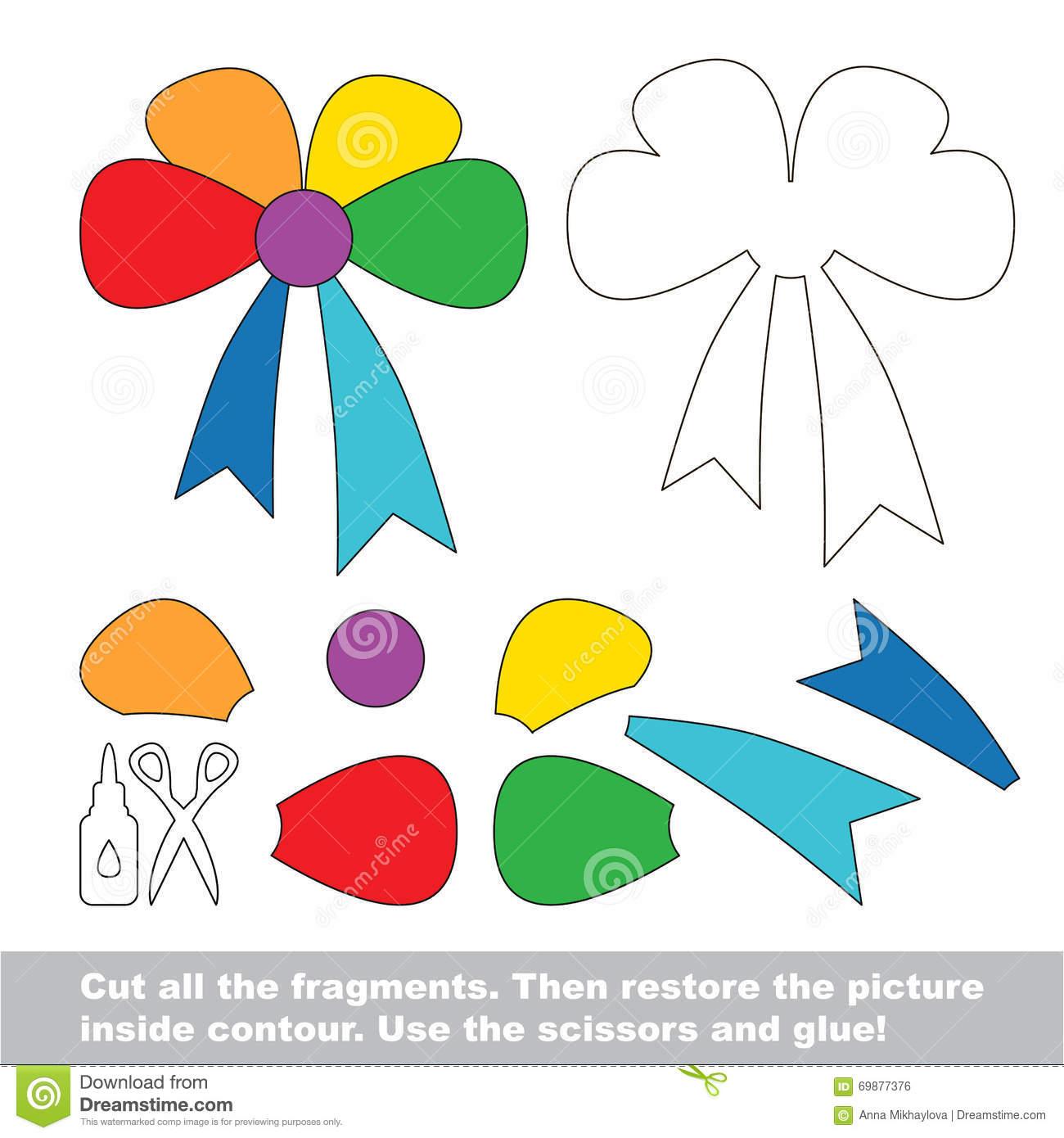 Jeu De Papier D'enfant Demande Facile D'enfants Avec L'arc avec Decoupage Pour Enfant