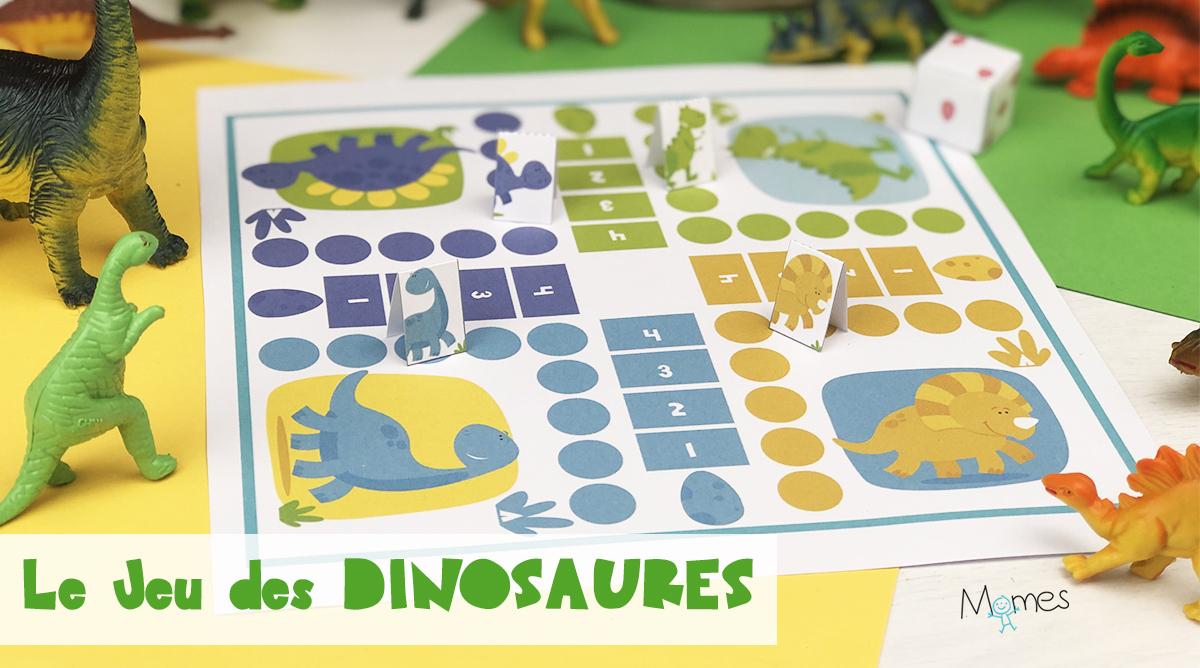 Jeu De Petits Chevaux À Imprimer Version Dinosaures tout Petit Jeu Maternelle
