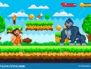 Jeu De Pixel Avec L'homme Des Cavernes Et Le Gorilla Vector pour Jeux De Gorille Gratuit