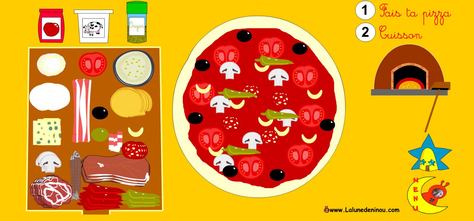 Jeu De Pizza En Ligne - Lalunedeninou à Jeux Enfant Gratuit En Ligne