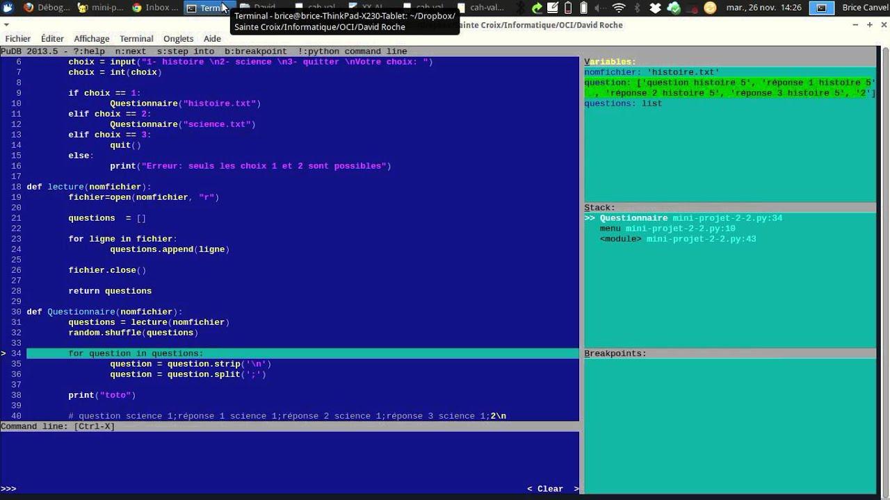 Jeu De Questions-Réponses En Python - concernant Question Reponse Jeu