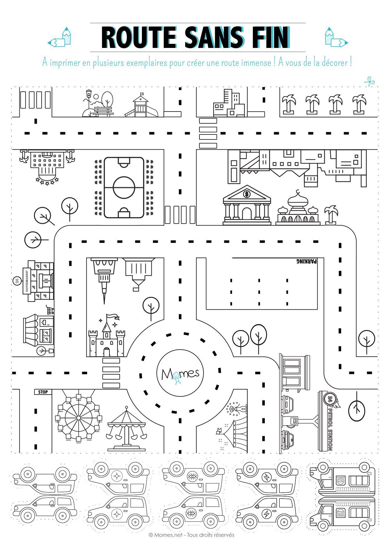 Jeu De Route À Imprimer | Jeux A Imprimer, Jeux En Voiture tout Jeux De Parcours De Voiture