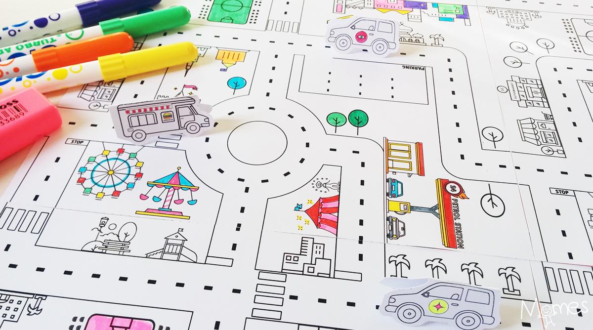 Jeu De Route À Imprimer - Momes avec Jeux De Parcours De Voiture