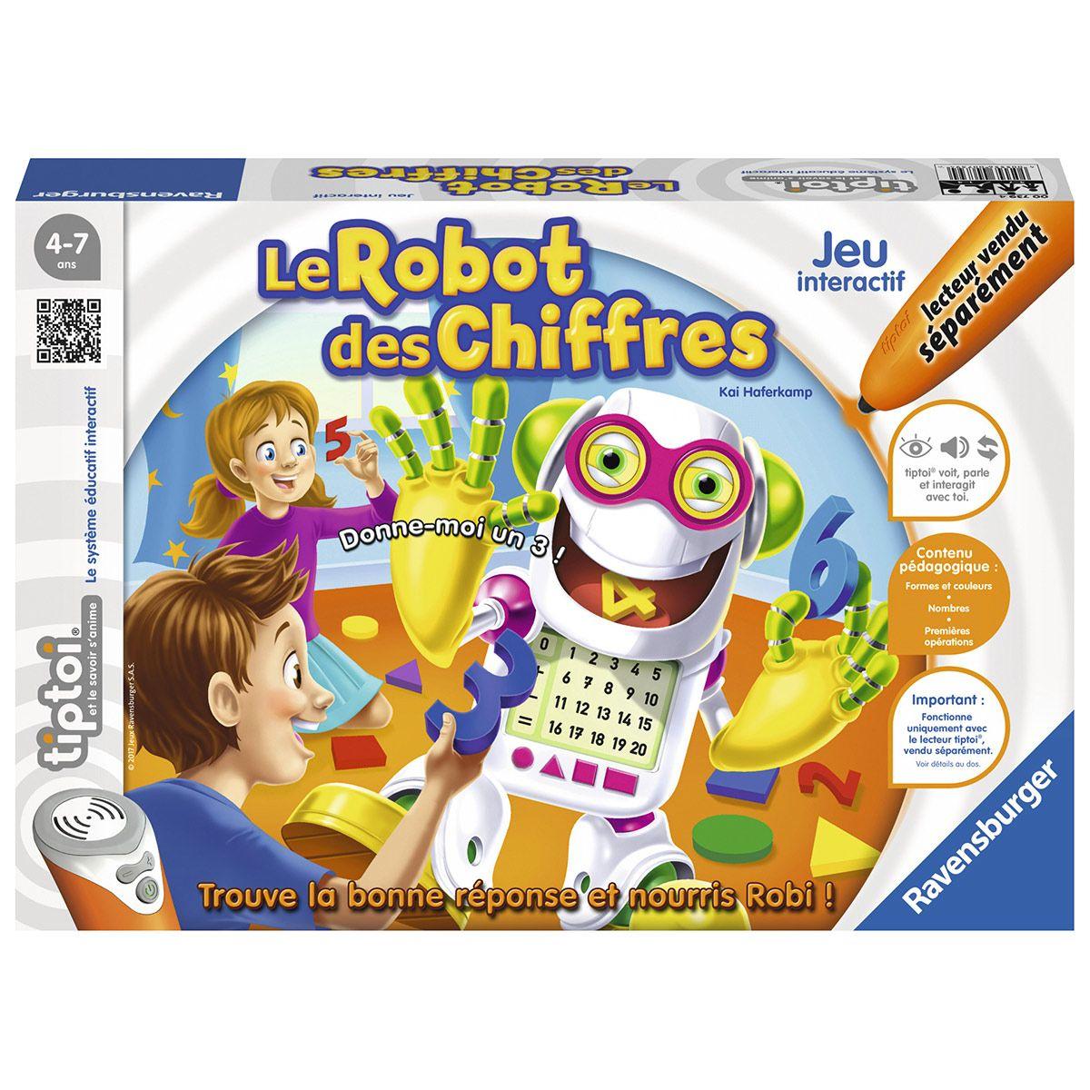 Jeu De Societé Interactif Tiptoi : Le Robot Des Chiffres tout Jeux Educatif 5 6 Ans