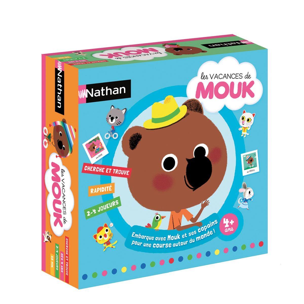 Jeu De Société Mouk Nathan Pour Enfant De 4 Ans À 8 Ans avec Jeux Pour Enfant De 4 Ans