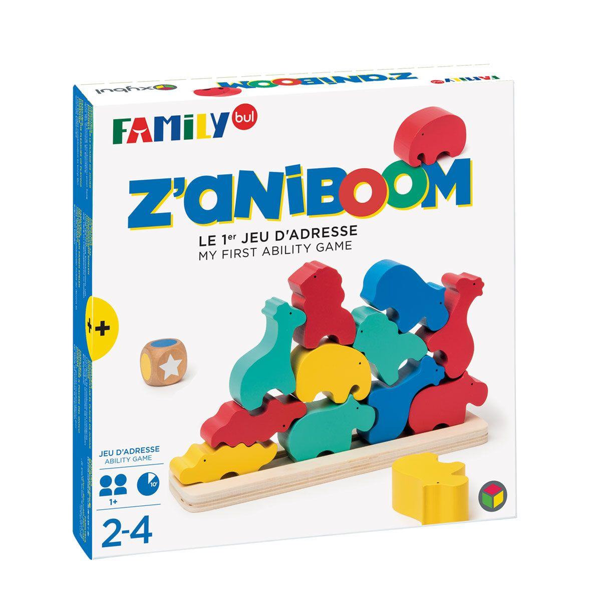 Jeu De Société Z'aniboom Familybul Création Oxybul   Jeux De intérieur Jeux Educatif Enfant 2 Ans