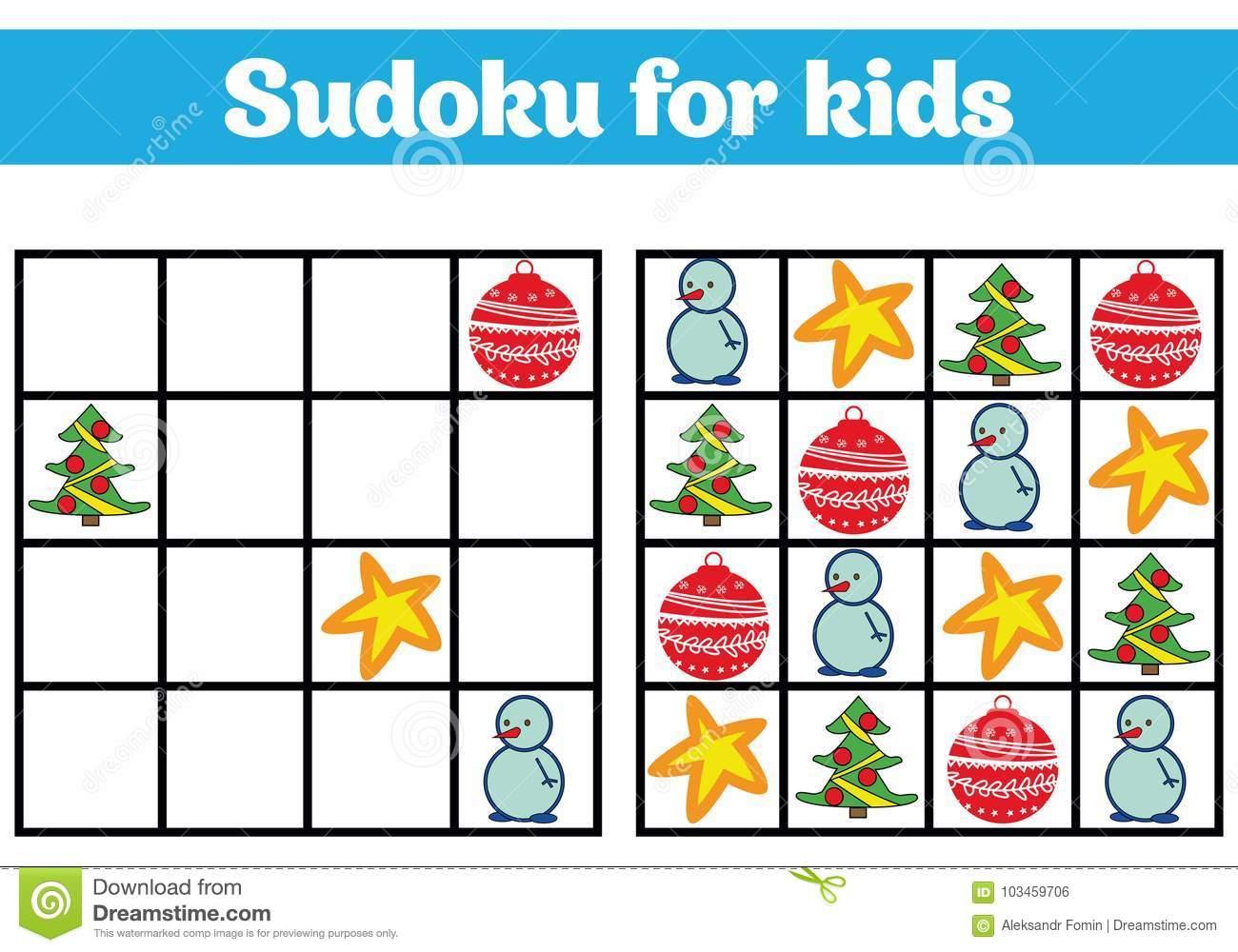 Jeu De Sudoku Pour Des Enfants Avec Des Photos Jeu De concernant Rebus Enfant
