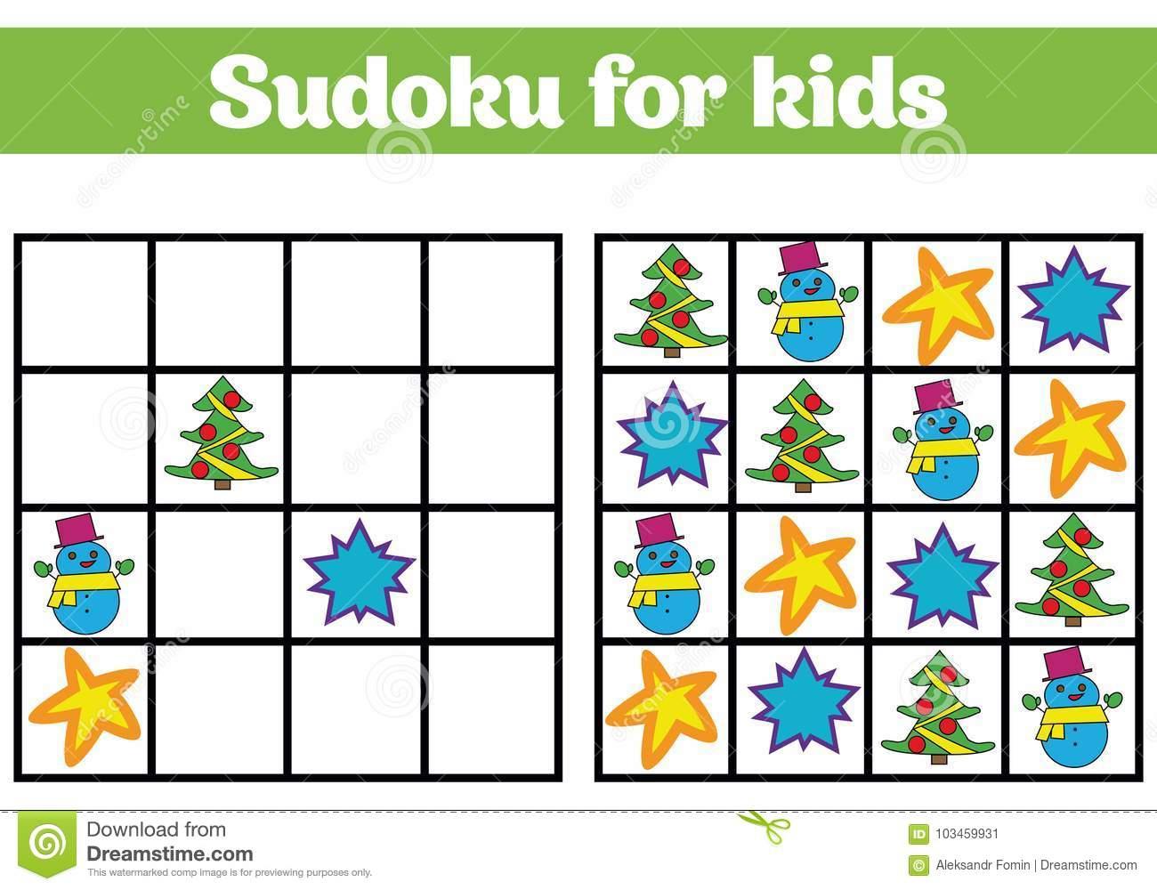 Jeu De Sudoku Pour Des Enfants Avec Des Photos Jeu De pour Rebus Enfant