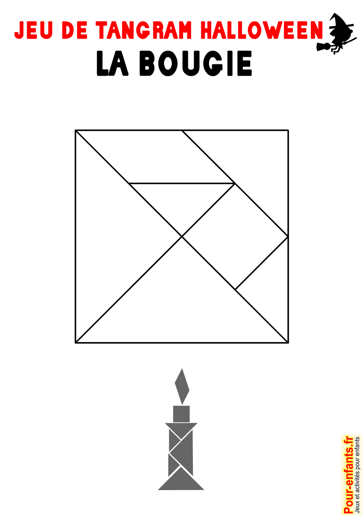 Jeu De Tangram À Imprimer Bougie Halloween Imprimable concernant Modèle Tangram À Imprimer