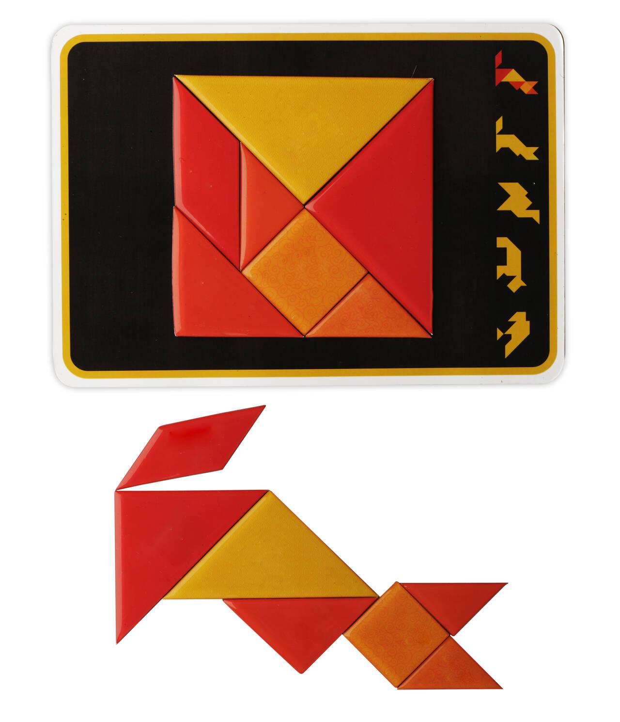 Jeu De Tangram Magnétique Avec Doming - 7 Pièces destiné Pièces Tangram