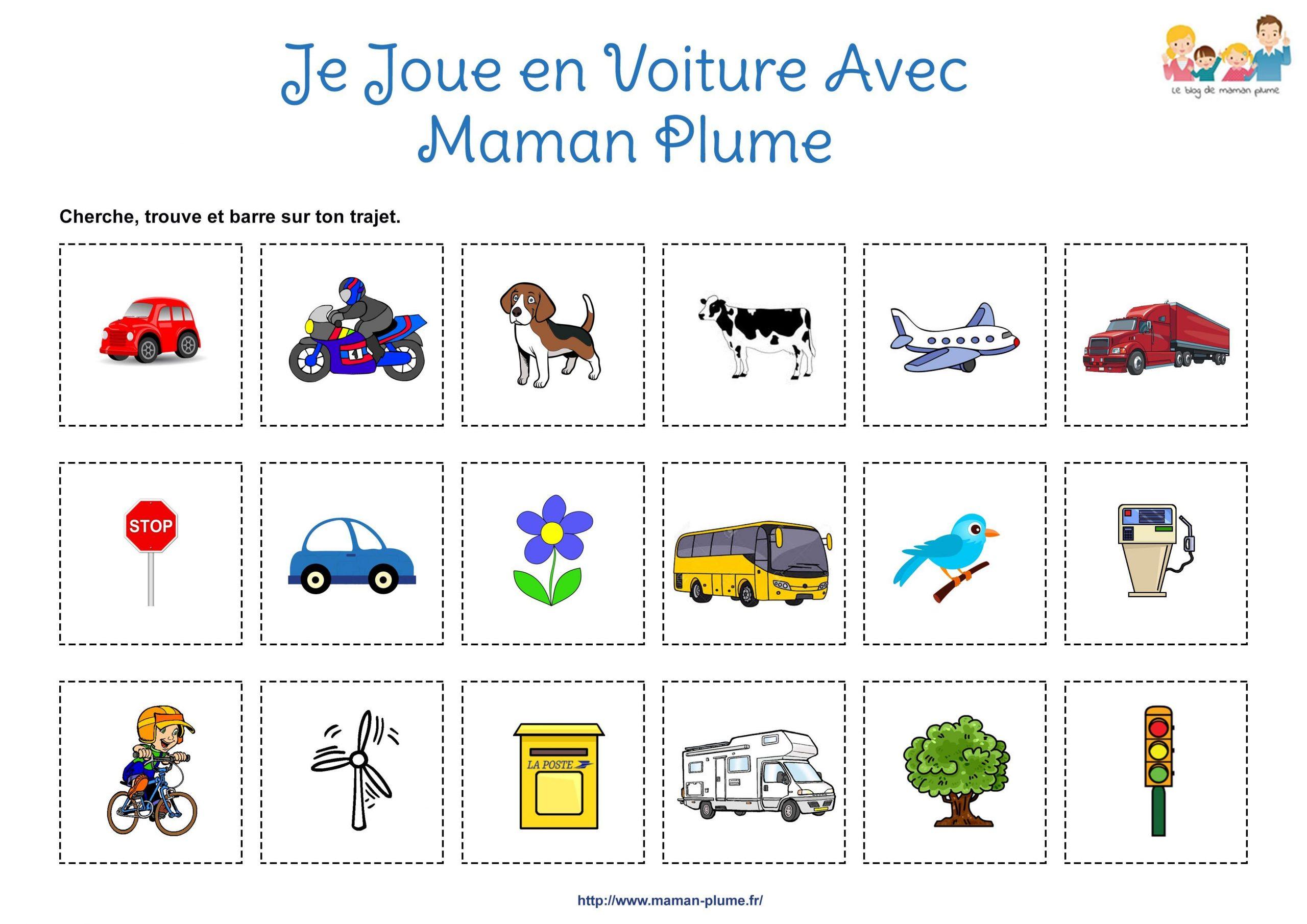 Jeu De Voiture Enfant - Fiche Loto De Voiture | Le Blog De pour Jeux De Voitures Pour Enfants