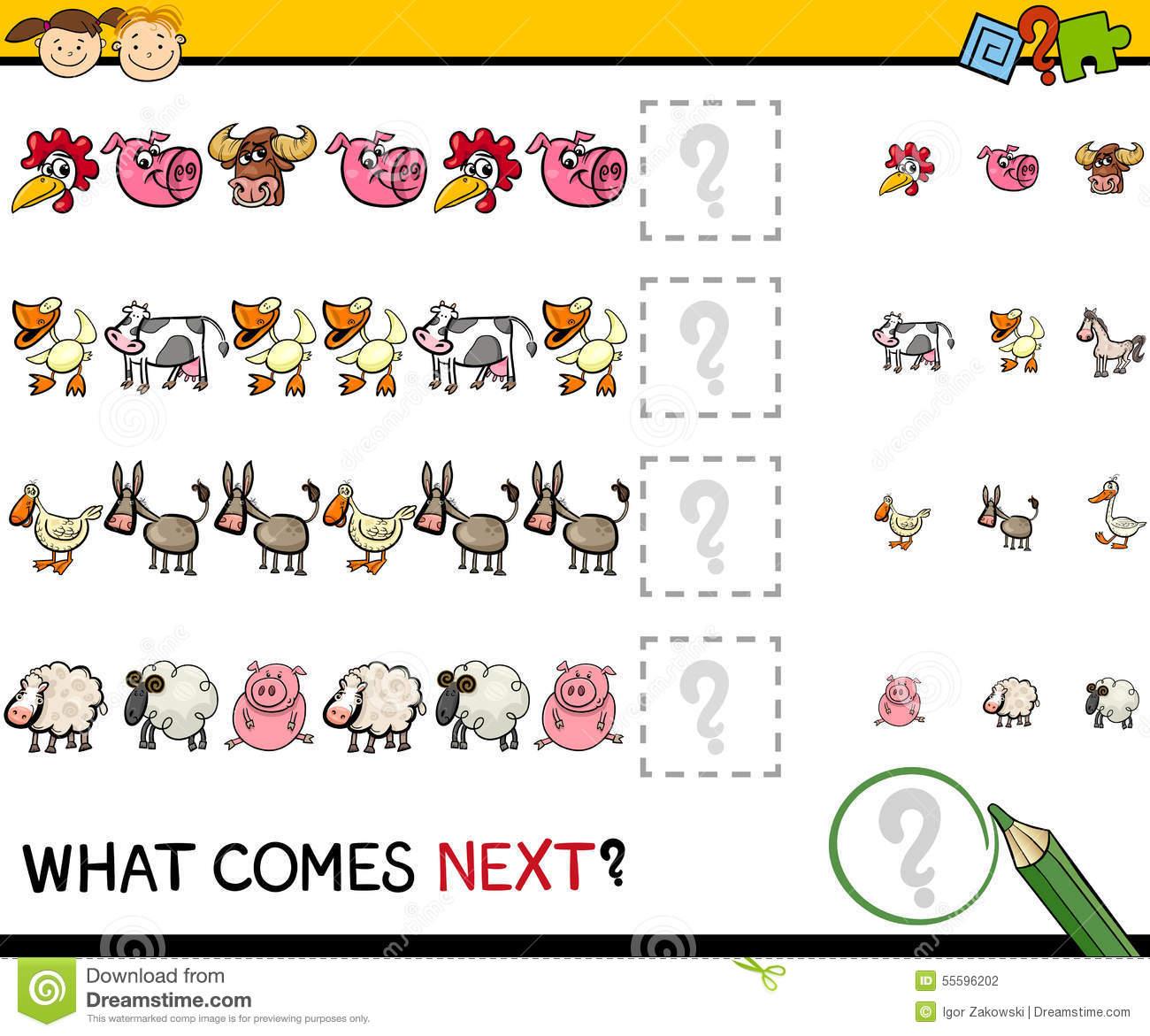 Jeu D'éducation Avec Des Animaux De Ferme Illustration De concernant Jeux D Animaux De La Ferme