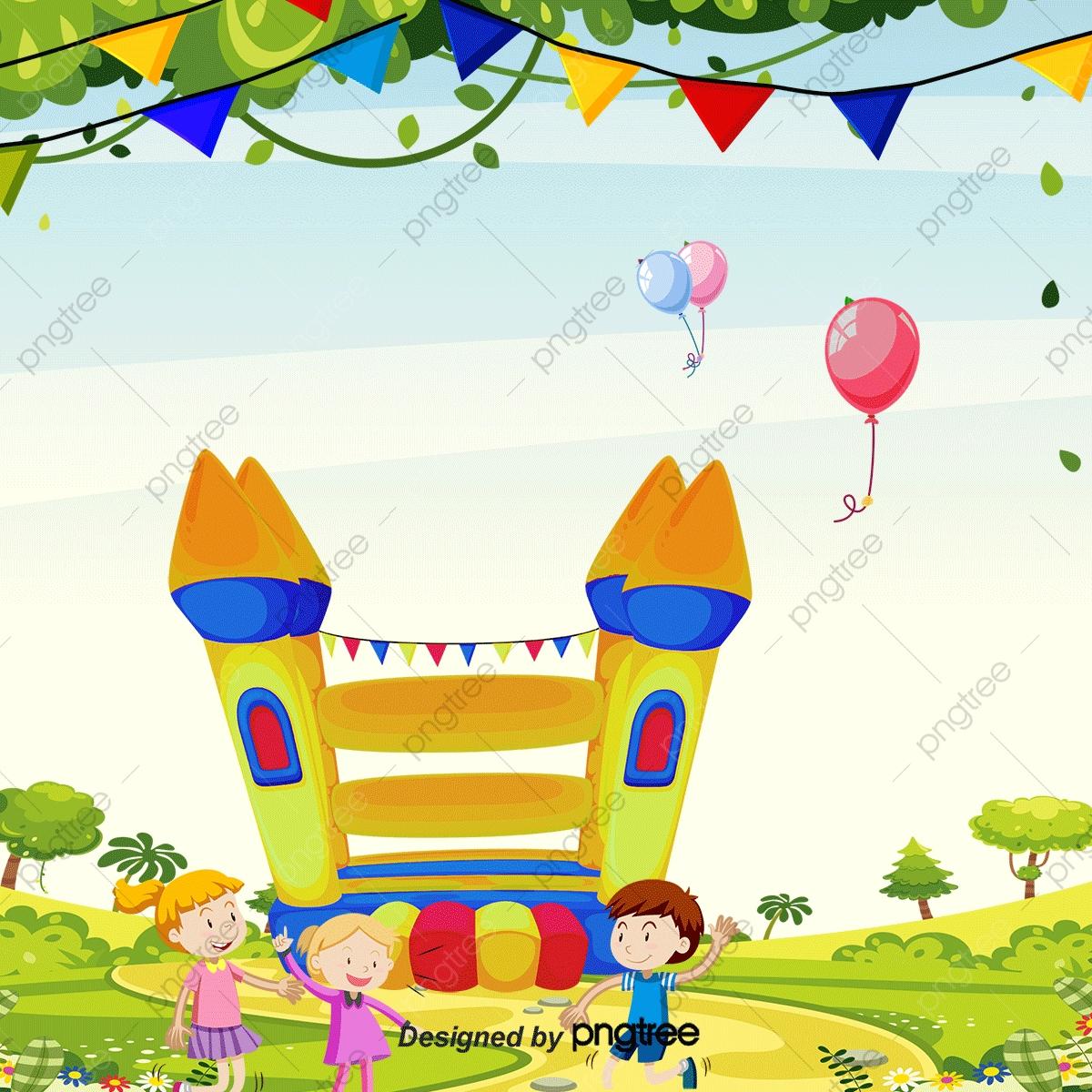 Jeu D'enfant, Les Enfants, Parc D'attractions, Dessin avec Jeux D Enfans Gratuit