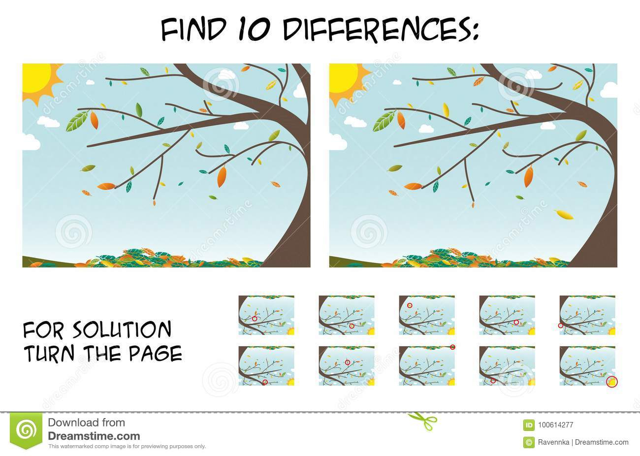 Jeu D'enfant - Trouvez 10 Différences Dans Les Photos Avec intérieur Les 5 Differences