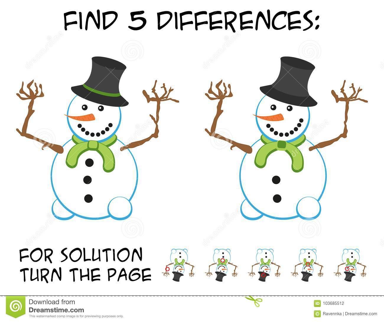 Jeu D'enfant - Trouvez 5 Différences Dans Les Photos Avec Du encequiconcerne Les 5 Differences
