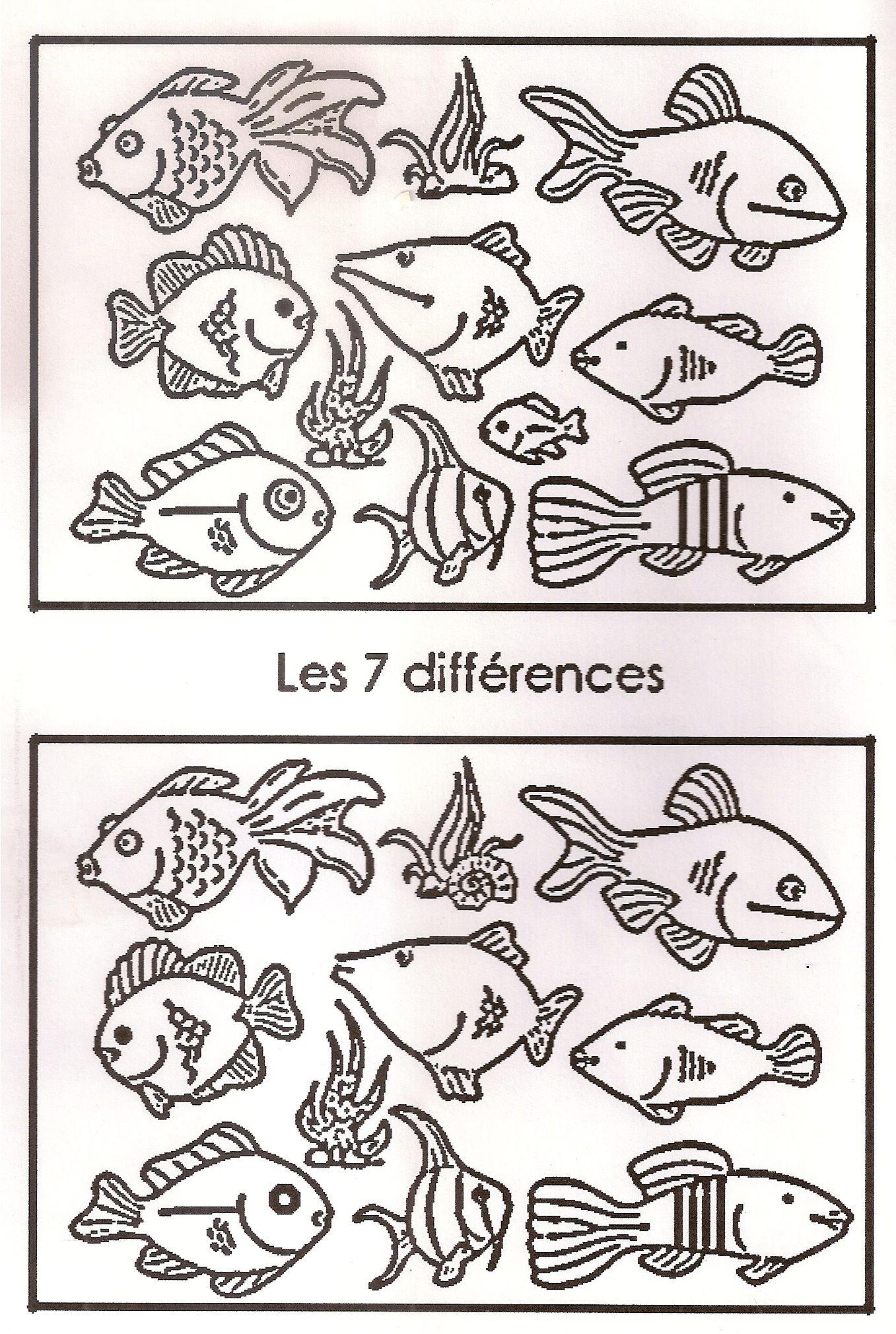 Jeu Des 7 Différences | Jeux Des 7 Erreurs, Jeux Des Erreurs à Jeu Des 7 Différences À Imprimer