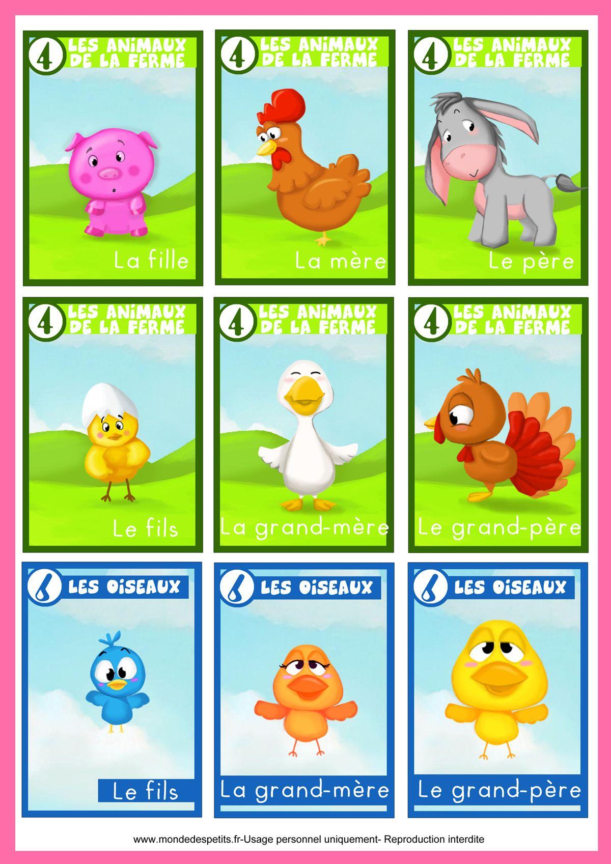Jeu Des 7 Familles Animaux | Jeux Des 7 Familles, Jeux De serapportantà Apprendre Les Animaux Jeux Éducatifs