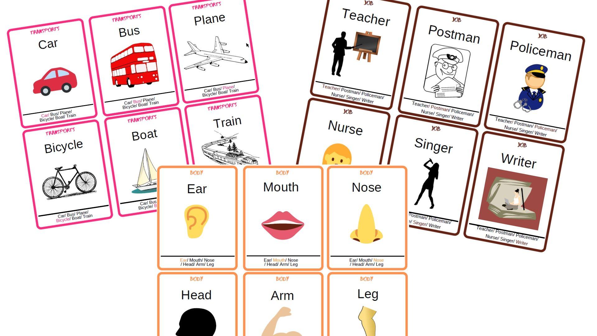 Jeu Des 7 Familles En Anglais : Apprendre Les Mots Courants tout Jeu De Mot En Anglais