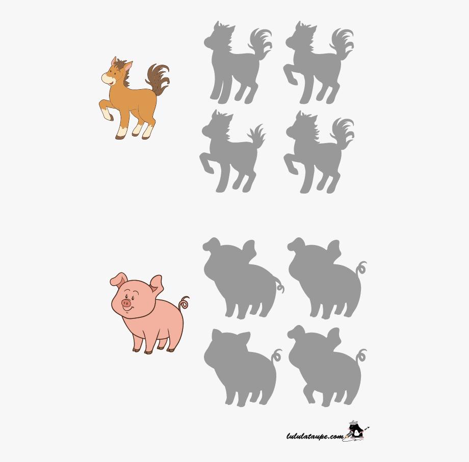 Jeu Des Ombres, Les Animaux De La Ferme - Jeu Des Ombres pour Jeux Les Animaux De La Ferme