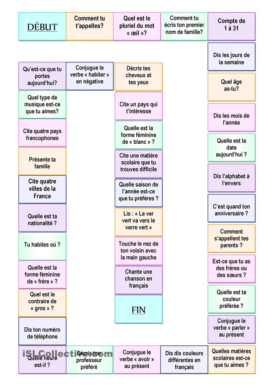 Jeu Des Questions | Apprendre Le Français, Jeu Question Et à Jeux Pour Apprendre Les Mois De L Année