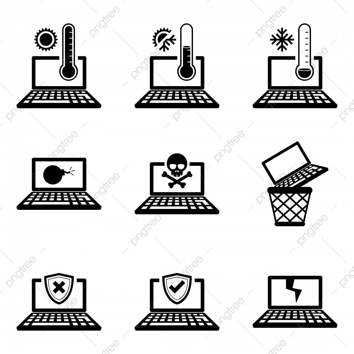 Jeu D'icônes De Différentes Erreurs D'ordinateur Portable encequiconcerne Jeux Des Erreurs Gratuit