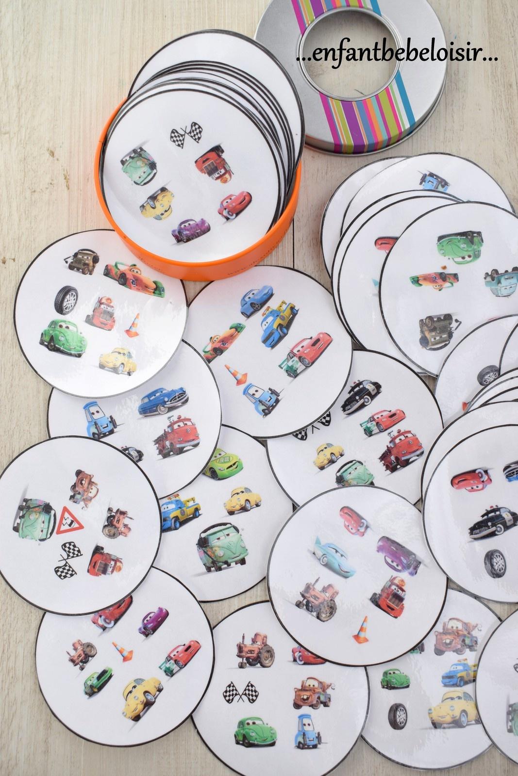 Jeu Dobble Cars Pixar À Imprimer - Gratuit - Enfant Bébé Loisir avec Jeux De Maternelle À Imprimer