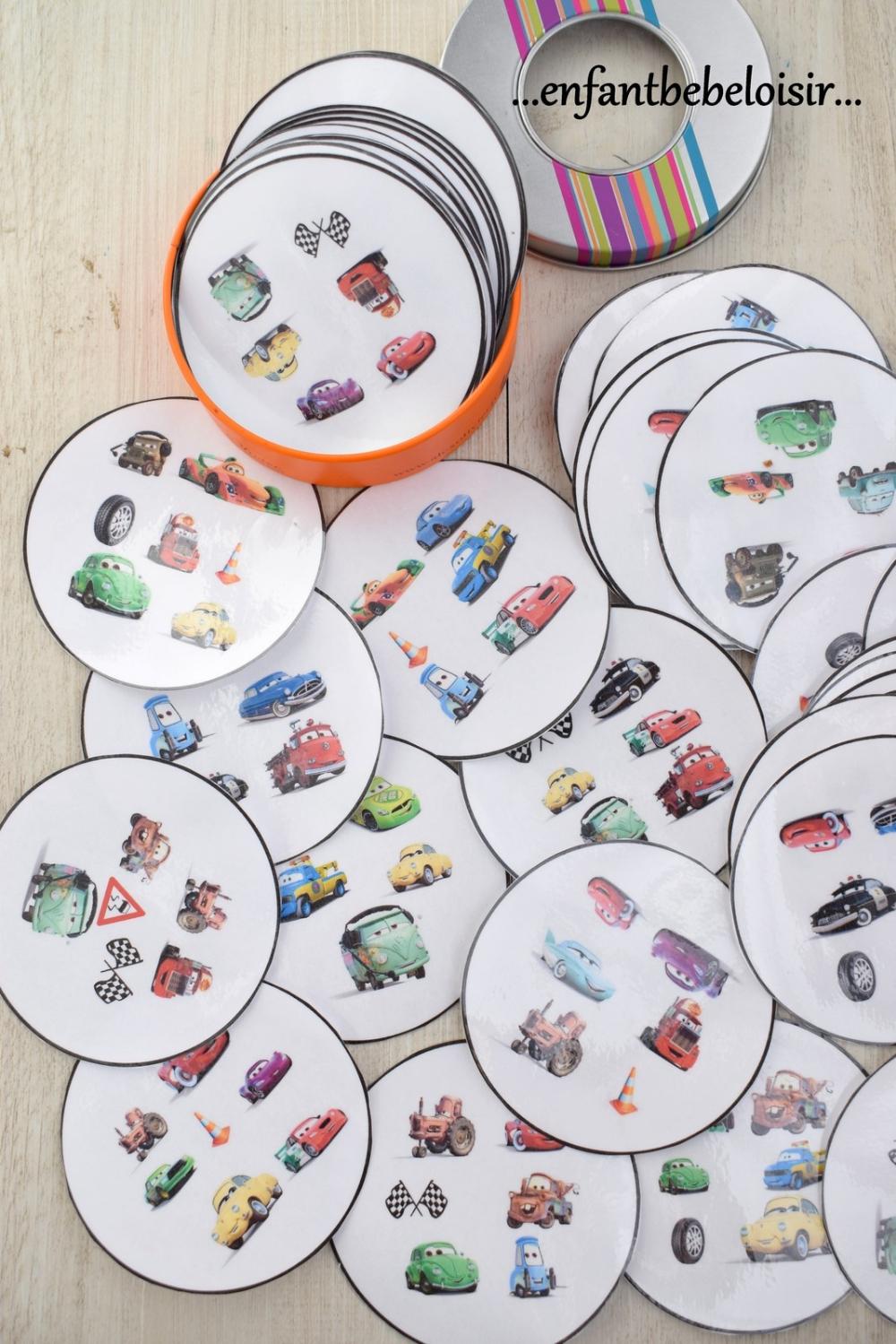 Jeu Dobble Cars Pixar À Imprimer - Gratuit | Jeux De Dobble destiné Jeux Enfant 3 Ans Gratuit