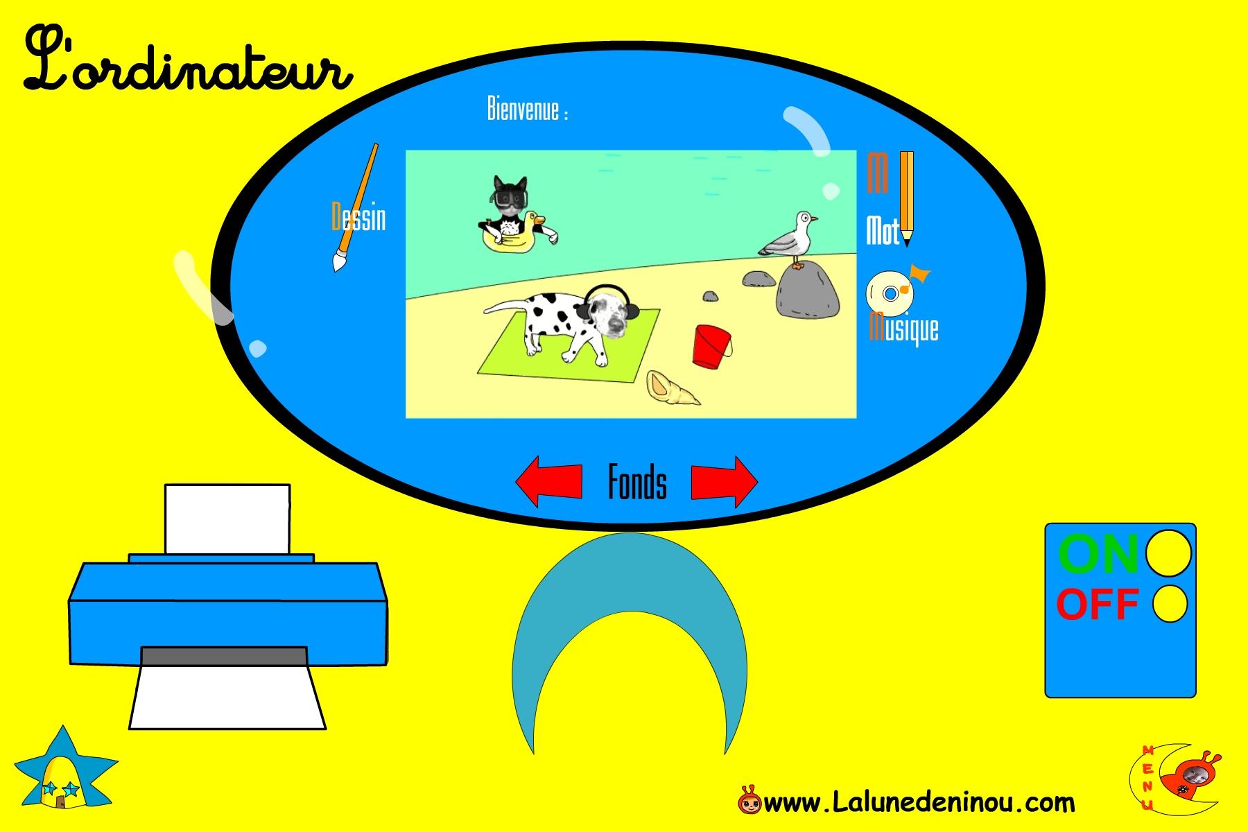 Jeu D'ordinateur Pour Maternelle - Lalunedeninou destiné Jeux Ordinateur Enfant