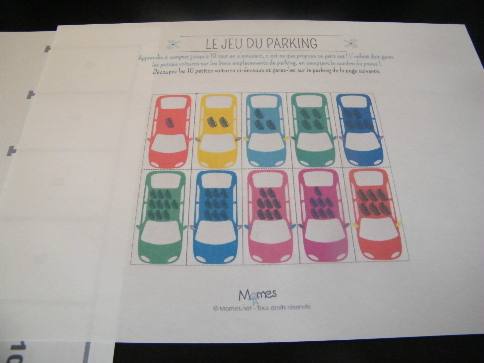 Jeu Du Parking: Apprendre À Compter Jusque 10 En Garant Des dedans Jeux De Voitures Pour Enfants
