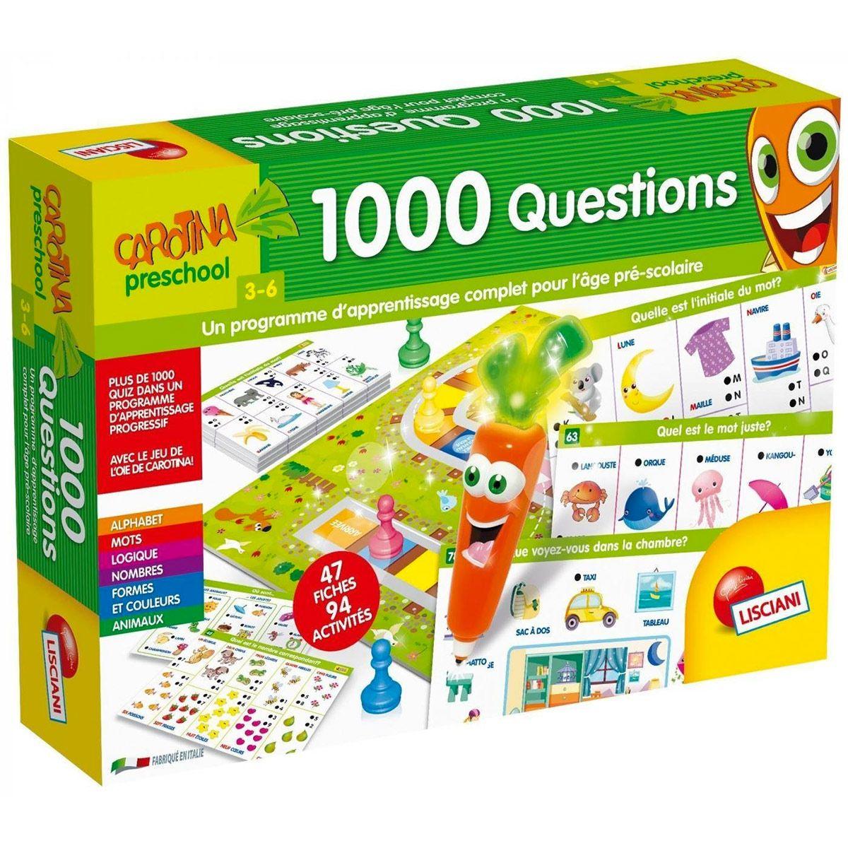 Jeu Éducatif 1000 Questions - Jeux D'apprentissage - La dedans Jeux Bebe 3 Ans