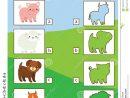 Jeu Éducatif Assorti D'enfants De Silhouette Badine L encequiconcerne Apprendre Les Animaux Jeux Éducatifs