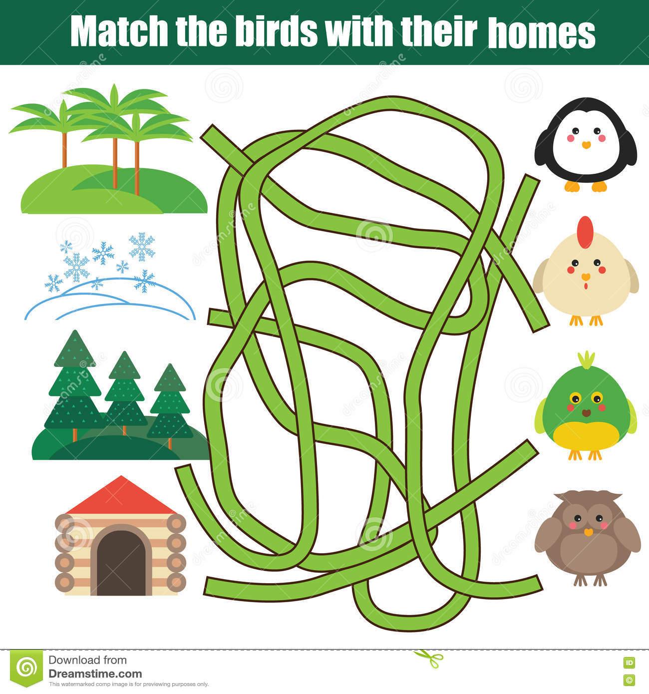 Jeu Éducatif Assorti D'enfants Illustration De Vecteur tout Apprendre Les Animaux Jeux Éducatifs