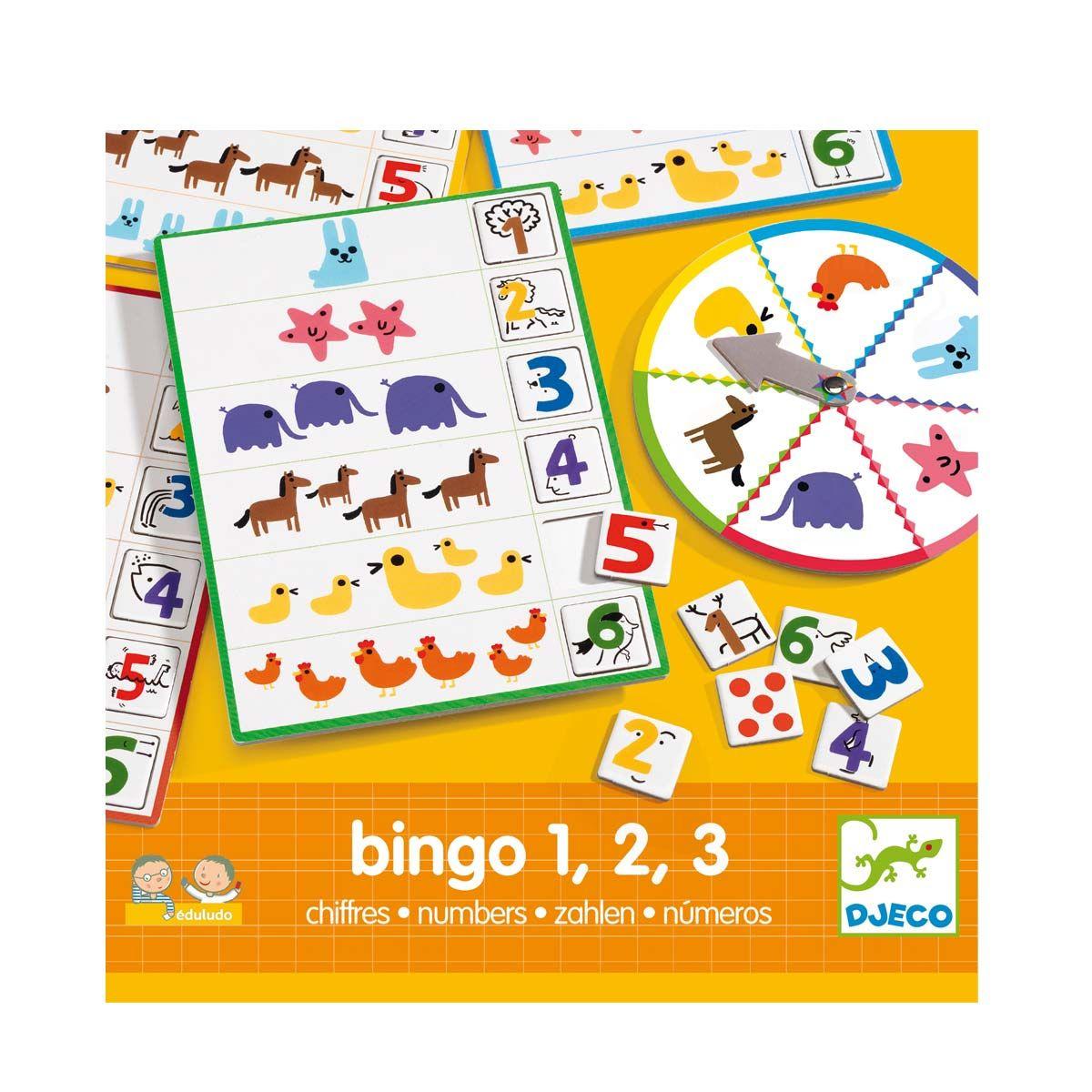 Jeu Éducatif Bingo Chiffres Djeco Pour Enfant De 4 Ans À 6 avec Jeux Enfant 3 Ans Gratuit