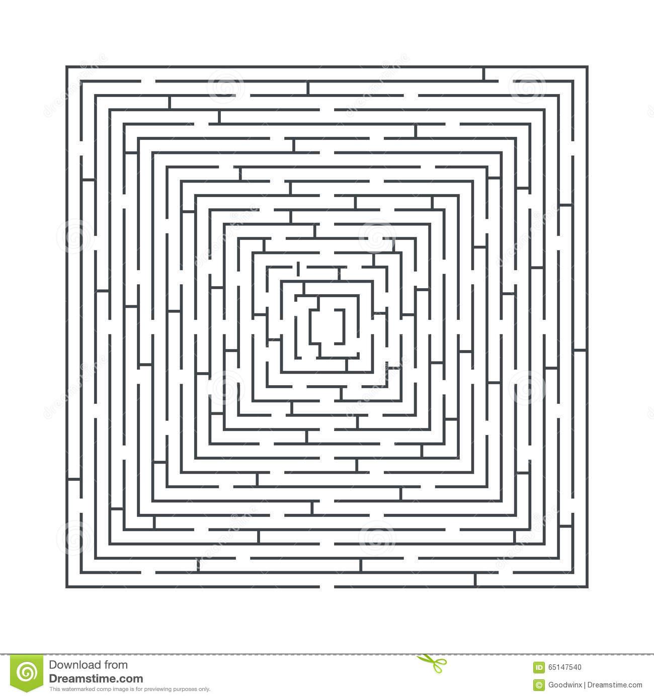 Jeu Éducatif De Labyrinthe Difficile Et Long Sous Forme De pour Labyrinthe Difficile