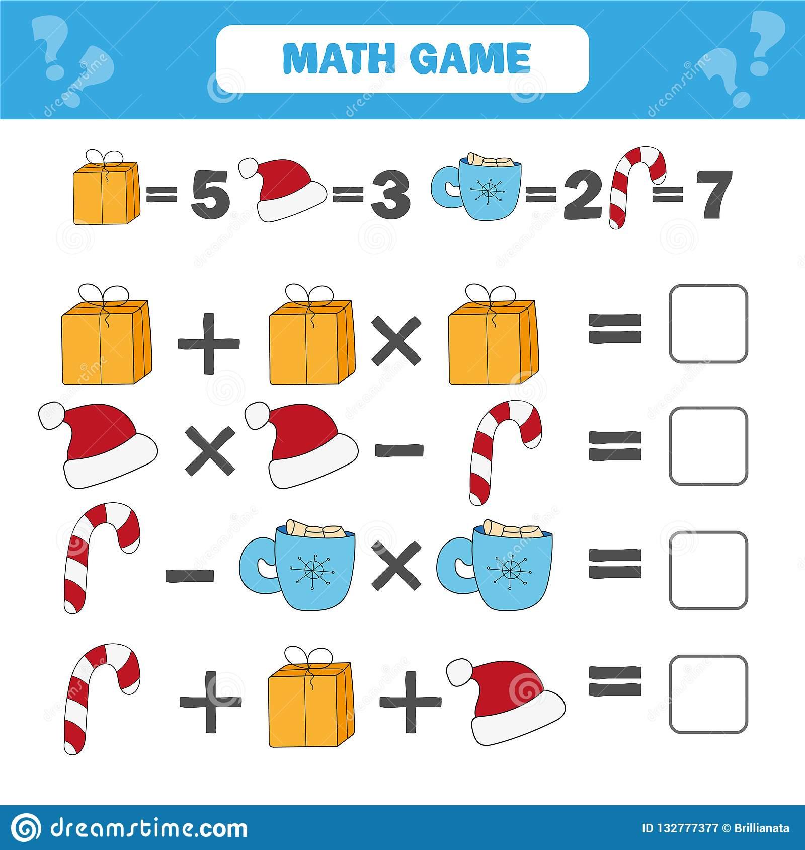 Jeu Éducatif De Mathématiques Pour Des Enfants Compte De La encequiconcerne Jeux Enfant Educatif