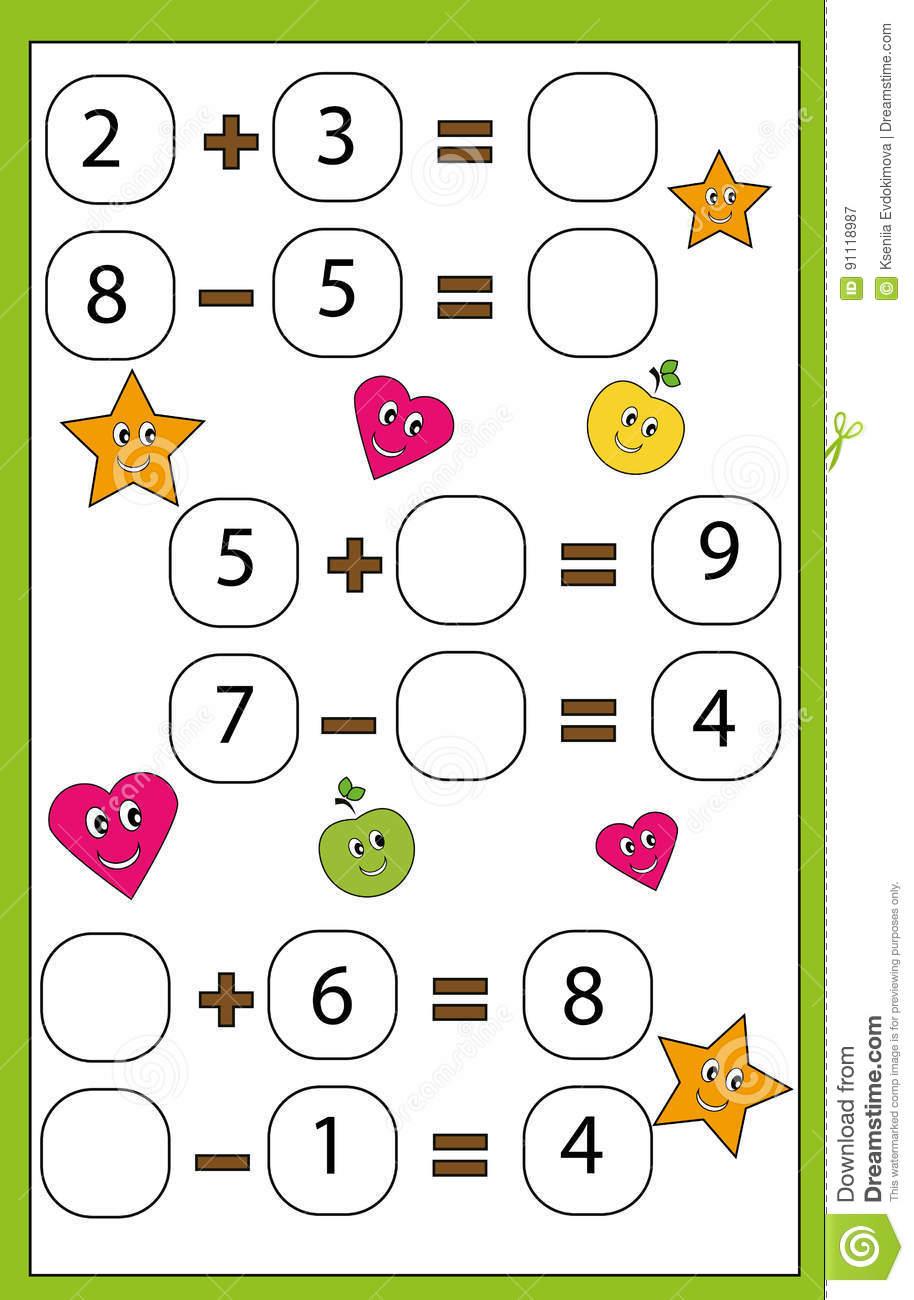 Jeu Éducatif De Maths Pour Des Enfants Étude De L'activité D destiné Jeux De Matematique