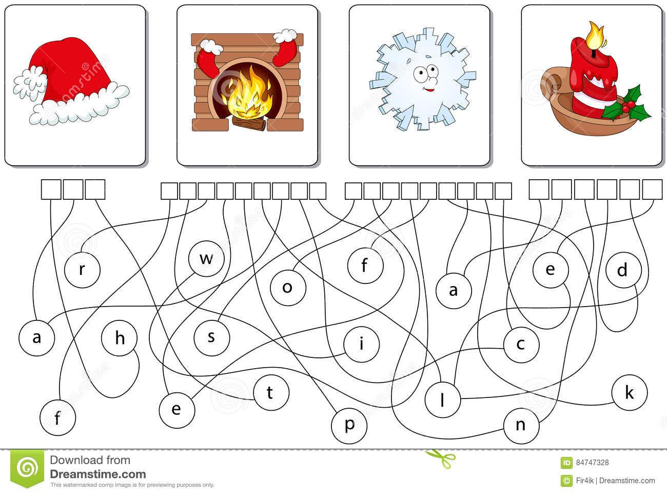 Jeu Éducatif De Puzzle Trouvez Les Mots Cachés Illustration tout Jeux Des Mots Cachés