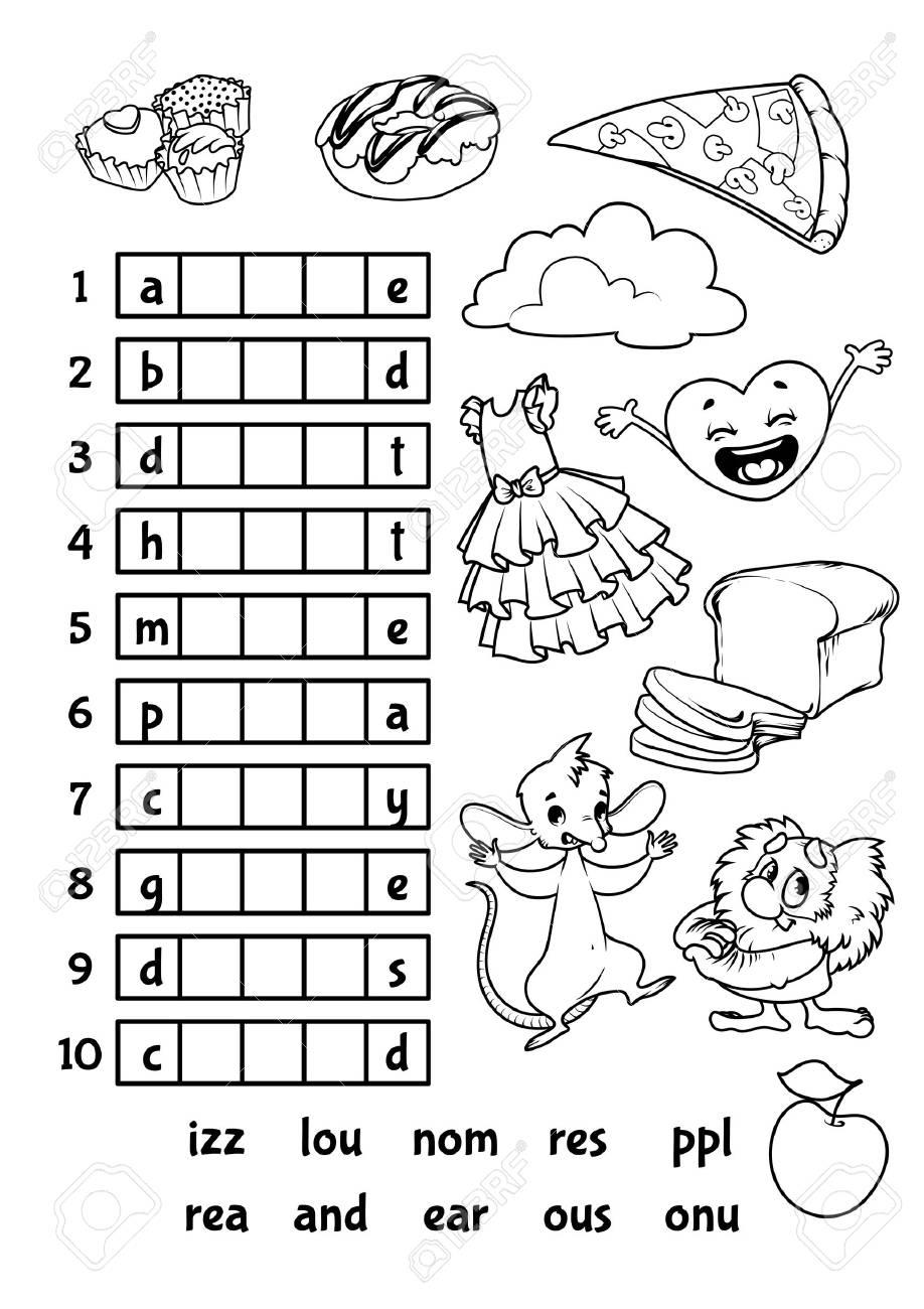 Jeu Éducatif De Rebus Pour Enfants D'âge Préscolaire. Trouver La Bonne  Partie Des Mots. Vecteur Cartoon Illustration. à Rébus À Imprimer