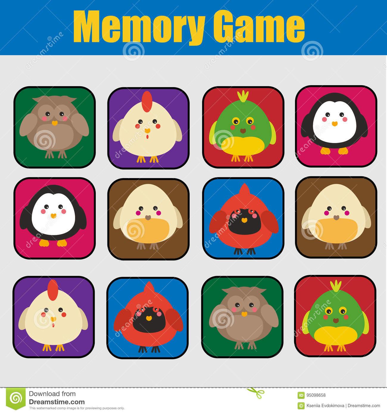 Jeu Éducatif D'enfants, Activité D'enfants Jeu De Mémoire pour Jeux De Memoire Enfant