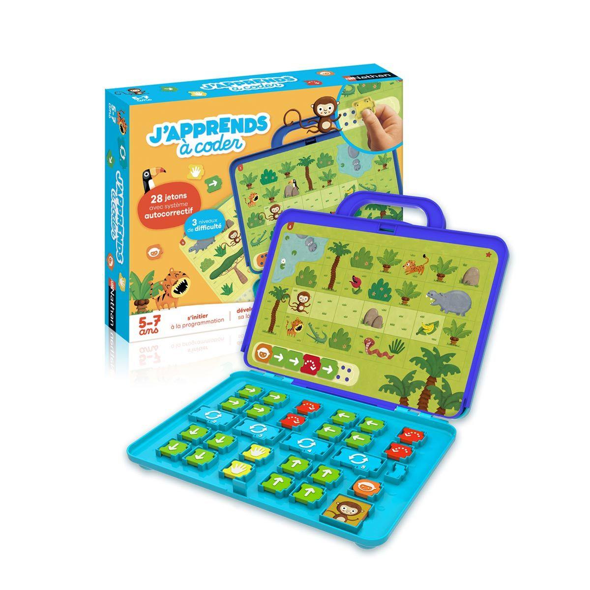 Jeu Éducatif J'apprends À Coder Nathan | Jeu Educatif, Jeux à Jeux Enfant Educatif