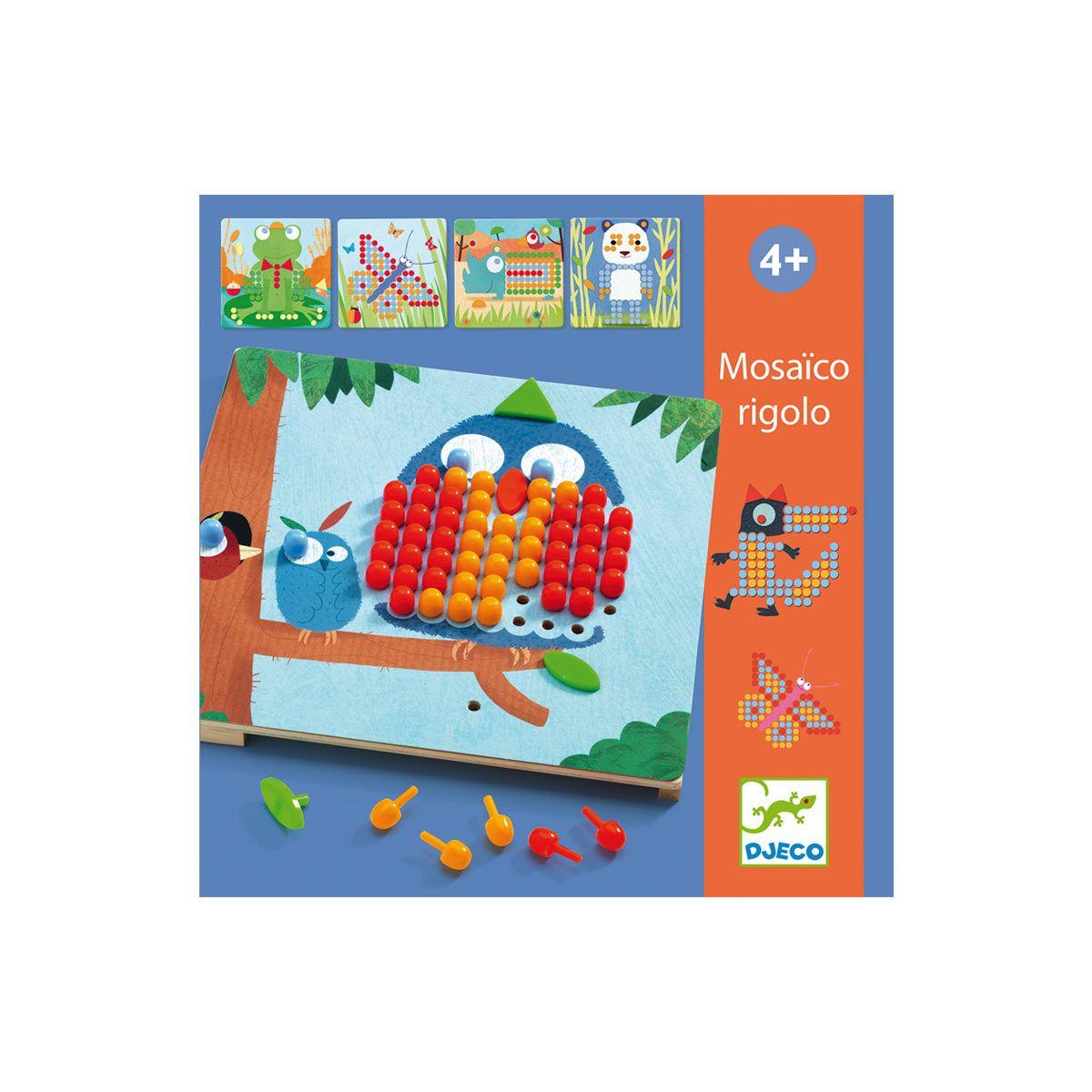 Jeu Éducatif Mosaïco Rigolo Djeco Pour Enfant De 3 Ans À 6 dedans Jeux Educatif Enfant 6 Ans