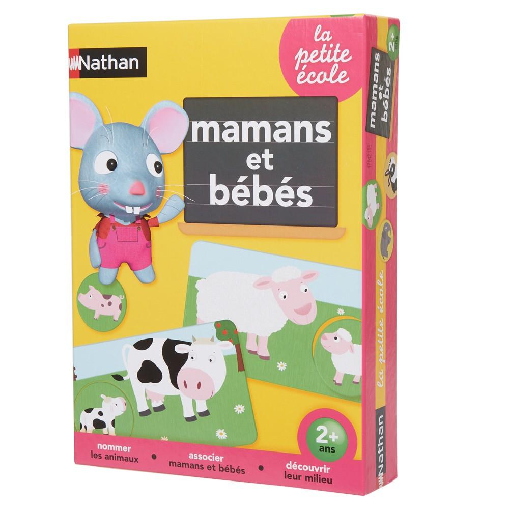 Jeu Éducatif Nathan Mamans Et Bébés concernant Apprendre Les Animaux Jeux Éducatifs
